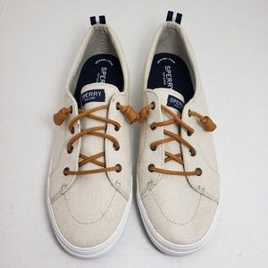Sperry Canvas Crest Vibe Lace Up Sneakers Sz 11